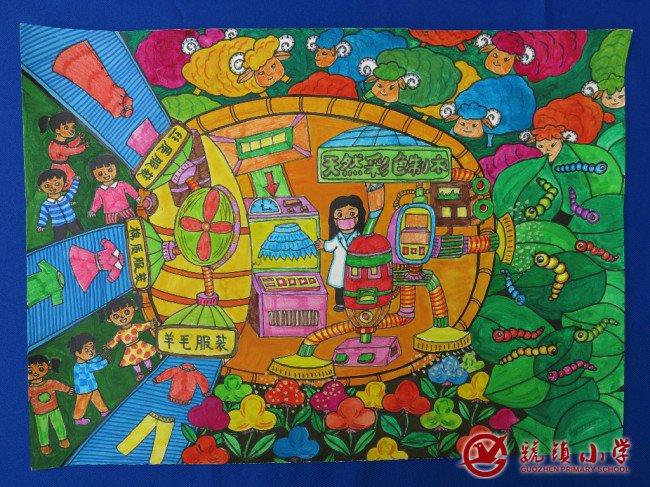 胡祎婷 科幻画 三等奖 韩芳梅   5 智能文物修复还原机 郑亦璇 科幻画